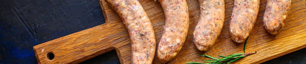 Saucisses artisanales naturelles sans gluten